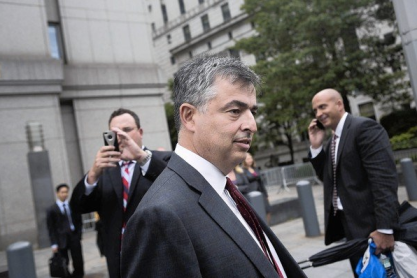 Cue after his e-book testimony. Photo: Victor J. Blue, Bloomberg