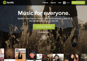 While Spotify might be music for everyone, a select few subscribed to a streaming music service in the US.